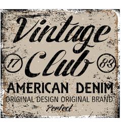 vintage design stamp typography t-shirt graphics vector image vector image