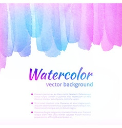 Watercolor Colorful Background vector image