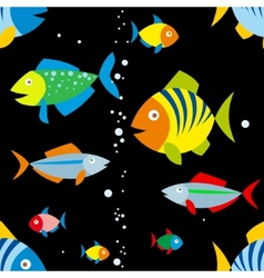 background of colorful fish vector image