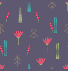 beautiful floral background seamless pattern vector image vector image