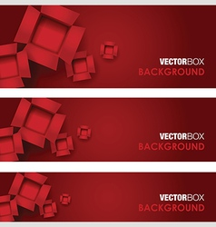 cardboard boxes red vector image vector image