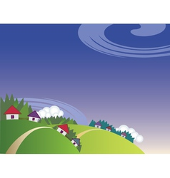 countryside landscape vector image vector image