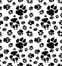 footprints of dog vector image