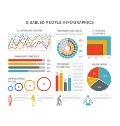 healthcare and disability infographic with vector image vector image