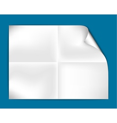 sheet of folded paper vector image