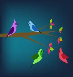 Birds in the spring vector image vector image