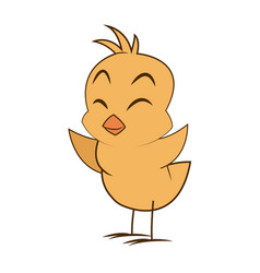 cute little chick baby animal bird cartoon vector image