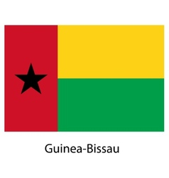 Flag of the country guinea bissau vector image vector image