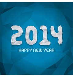 New year - 2014 origami message design vector image