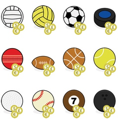 Sports betting icons vector image vector image