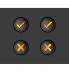 buttons with accepted and rejected text vector image vector image
