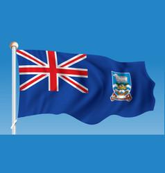 flag of falkland islands vector image vector image