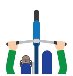 male bicyclist riding a bicycle vector image