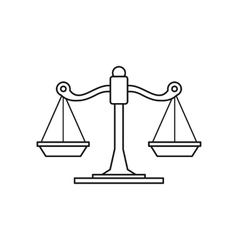 Scales icon outline style vector image