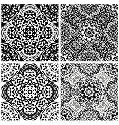 Set of squared backgrounds - ornamental seamless vector image vector image