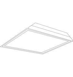 2x2 ceiling panel light image vector image