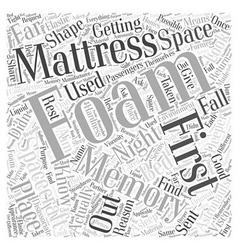 A Deeper Look at the Memory Foam Mattress Word vector image