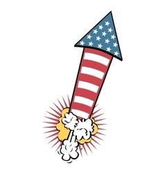 american fireworks celebration icon vector image