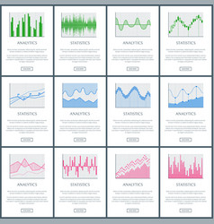 Analytics and statistics pages vector