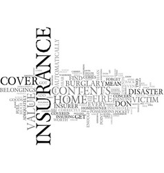 are you adequately covered text word cloud concept vector image