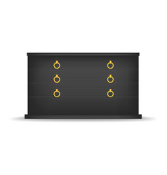 Black drawer mockup realistic style vector