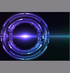 blue purple circle digital eye abstract sheet laye vector image