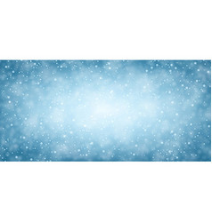 Blue winter banner with snow vector image