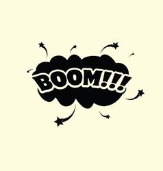 Boom cartoon vector
