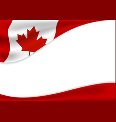 Canada day banner background design of flag with vector