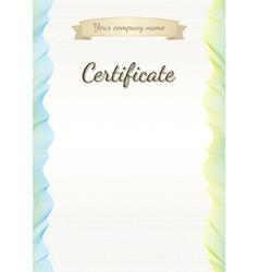 Certificate graduate diploma vector image