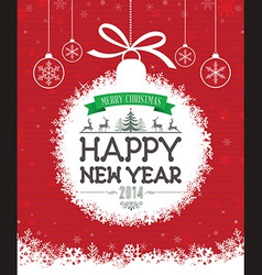 Christmas Message Design vector image