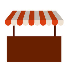 colorful silhouette image of store with striped vector image
