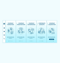 Corporation life cycle onboarding template vector