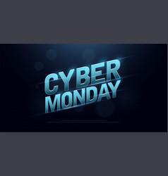cyber monday sale logo design technology concept vector image