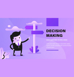 decision making vector image