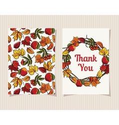 Decorative card Thank You vector image vector image