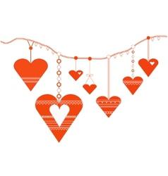 Decorative heart designs vector image