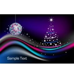 Disco christmas tree vector
