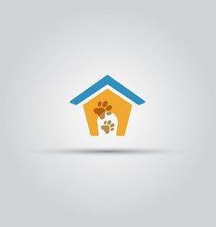dog house isolated colored icon vector image