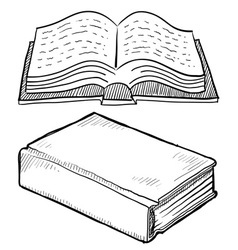 doodle books vector image