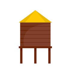 Farm barn icon flat style vector