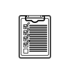 figure clipboard check the job icon vector image