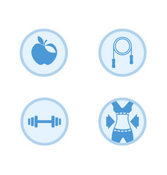 Fitness icon set vector
