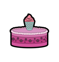 Gateau cake sweet vector