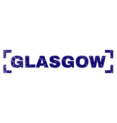 grunge textured glasgow stamp seal inside corners vector image