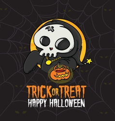 Halloween Trick or Treat Death Costume vector image