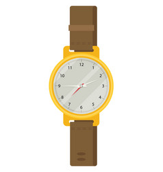 hand watch in flat design vector image