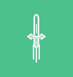 Icon ancient weapon sword vector