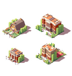 isometric educational buildings set vector image