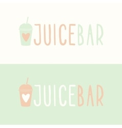 Juice bar logotypes vector